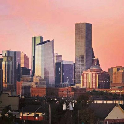 Homes for sale downtown Houston dusk views