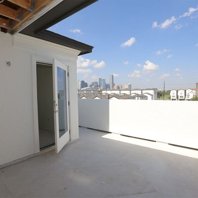 Townhomes EaDo Houston rooftop