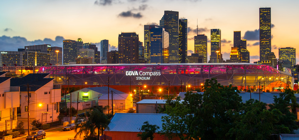 East downtown Houston BBVA compass stadium