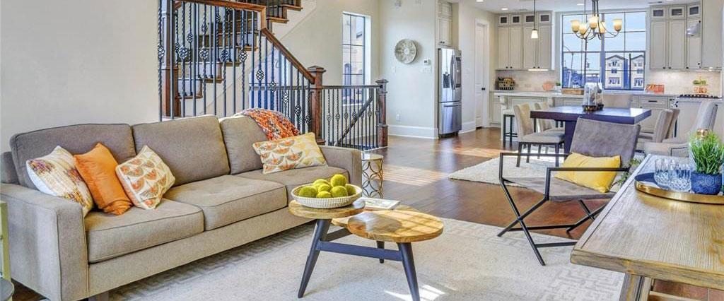 Townhomes EaDo Houston, living room